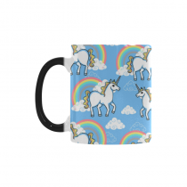 InterestPrint 11oz Cartoon Doodle Clouds Rainbow Unicorn Morphing Mug Heat Sensitive Color Change Coffee Mug Cup with Quotes, Unique Funny Birthday Christmas Gifts for Men Women Him Her Mom Dad