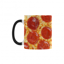 InterestPrint 11oz Fresh Italian Pepperoni Pizza Morphing Mug Travel Heat Sensitive Color Changing Coffee Mug Cup with Quotes, Unique Funny Birthday Christmas Gifts for Men Women Him Her Mom Dad