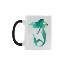 InterestPrint Little Mermaid Fish Ocean Sea Morphing Mug Heat Sensitive Color Changing Coffee Mug Cup with Quotes, Unique Funny Birthday Christmas Gifts for Men Women Him Her Mom Dad