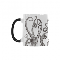 InterestPrint 11oz Ocean Animal Octopus Morphing Mug Travel Heat Sensitive Color Changing Coffee Mug Cup with Quotes, Unique Funny Birthday Christmas Gifts for Men Women Him Her Mom Dad
