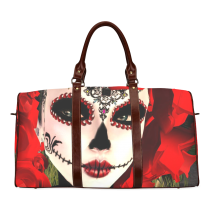 InterestPrint Custom Sugar Skull Dia De Los Muertos Travel Bag /Duffel Bag/Luggage Bag/Weekender Bag