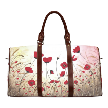InterestPrint Custom Poppy Travel Bag /Duffel Bag/Luggage Bag/Weekender Bag