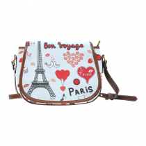 InterestPrint Custom Eiffel Tower Saddle Bag/Shoulder Bag/for Women Girls