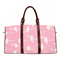 InterestPrint Custom Flamingo Cartoon Pattern Pink Travel Bag /Duffel Bag/Luggage Bag/Weekender Bag