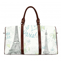 InterestPrint Custom Eiffel Tower Paris Doodle Art Travel Bag /Duffel Bag/Luggage Bag/Weekender Bag