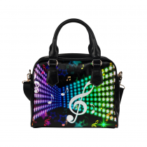InterestPrint Music Notes Glitter Women's Shoulder Handbag/Tote Bag/Travel Bag