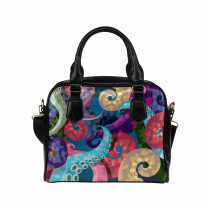 Product Details InterestPrint Octopus Sea Ocean Life Women's Shoulder Handbag/Tote Bag/Travel Bag