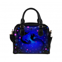 InterestPrint Mermaid Silhouette Sea Ocean Life Women's Shoulder Handbag/Tote Bag/Travel Bag