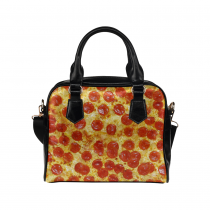 InterestPrint Food Delicious Pizza Vivid Closeup Women's Shoulder Handbag/Tote Bag/Travel Bag
