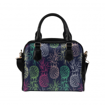 InterestPrint Pineapple Pattern Tropical Women's Shoulder Handbag/Tote Bag/Travel Bag