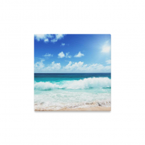InterestPrint Tropical Beach on Island Tropical Seascape Canvas Wall Art Print Painting Wall Hanging Artwork for Home Decoration