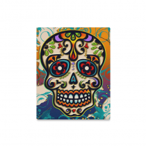 InterestPrint Sugar Skull Day of Dead Colorful Canvas Wall Art Print Painting Wall Hanging Artwork for Home Decoration