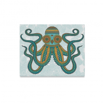 InterestPrint Octopus Sea Monster Unique Steampunk Canvas Wall Art Print Painting Wall Hanging Artwork for Home Decoration