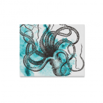 InterestPrint Octopus Black and White Underwater Canvas Wall Art Print Painting Wall Hanging Artwork for Home Decoration