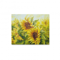 InterestPrint Original Oil Painting Sunny Yellow Sunflowers Canvas Wall Art Print Painting Wall Hanging Artwork for Home Decoration