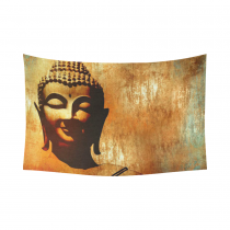 InterestPrint Landscape Wall Art Home Decor, Merciful Buddha Cotton Linen Tapestry Wall Hanging Art Sets