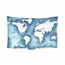 InterestPrint Abstract Art Splatter Painting Home Decor, Watercolor World Map Blue Cotton Linen Tapestry Wall Hanging Art Sets
