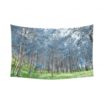 InterestPrint Landscape Scenery Wall Art Home Decor, Pine Forest Nature Art Cotton Linen Tapestry Wall Hanging Art Sets