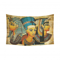 InterestPrint African Design Wall Art Home Decor, Ancient Egyptian Parchment Artwork Cotton Linen Tapestry Wall Hanging Art Sets