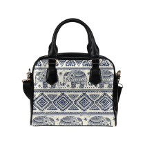 InterestPrint Elephant India Aztec Tribal Women Leather Shoulder Bag Handbag Satchel Bag Purse