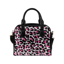 InterestPrint Leopard Cheetah Print Women Leather Shoulder Bag Handbag Satchel Bag Purse