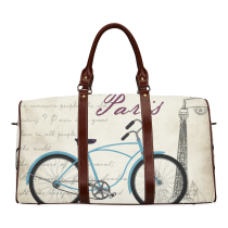 InterestPrint Custom Bicycle Bike Paris Travel Bag /Duffel Bag/Luggage Bag/Weekender Bag