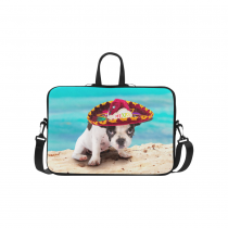 InterestPrint Classic Personalized French Bulldog Puppy Pug Dog Beach Seascape 15.4  - 15.6  /Macbook Pro 15 Inch Laptop Sleeve Case Bags Skin Cover for Lenovo, GW, Acer, Asus, Dell, Hp, Sony, Toshiba