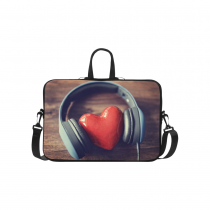 InterestPrint Classic Personalized Music Headset Heart Love 15.4  - 15.6  /Macbook Pro 15 Inch Laptop Sleeve Case Bags Skin Cover for Lenovo, GW, Acer, Asus, Dell, Hp, Sony, Toshiba