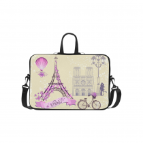 InterestPrint Classic Personalized Eiffel Tower Bike Paris Cityscape 15.4  - 15.6  /Macbook Pro 15 Inch Laptop Sleeve Case Bags Skin Cover for Lenovo, GW, Acer, Asus, Dell, Hp, Sony, Toshiba