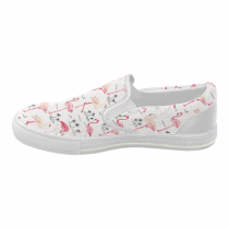 InterestPrint Flamingo White Casual Slip-on Canvas Women's Fashion Sneakers Shoes