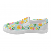 InterestPrint Pineapple  Fruit Casual Slip-on Canvas Women's Fashion Sneakers Shoes
