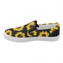 InterestPrint Sunflower Casual Slip-on Canvas Women's Fashion Sneakers Shoes