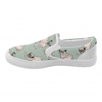 InterestPrint Cute Pug Dog Casual Slip-on Canvas Women's Fashion Sneakers Shoes