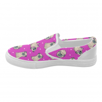 InterestPrint Cute Pug Casual Slip-on Canvas Women's Fashion Sneakers Shoes