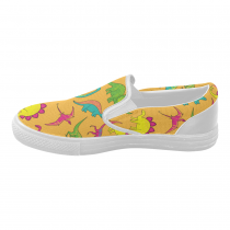InterestPrint Cartoon Dinosaur Casual Slip-on Canvas Women's Fashion Sneakers Shoes