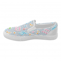 InterestPrint Music Note Casual Slip-on Canvas Women's Fashion Sneakers Shoes
