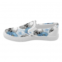 InterestPrint Cool Sugar Skull Poppy Casual Slip-on Canvas Women's Fashion Sneakers Shoes