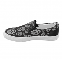 InterestPrint Cool Sugar Skull Casual Slip-on Canvas Women's Fashion Sneakers Shoes