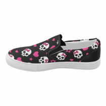 InterestPrint Halloween Sugar Skull Casual Slip-on Canvas Women's Fashion Sneakers Shoes