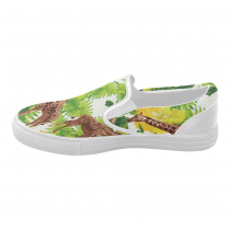 giraffe-SO019-057-10 Slip-on Canvas Women's Shoes(Model019)