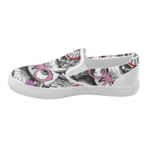 InterestPrint Hipster Owl Casual Slip-on Canvas Women's Fashion Sneakers Shoes
