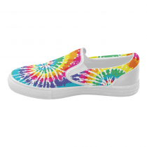 InterestPrint Tie Dye Casual Slip-on Canvas Women's Fashion Sneakers Shoes