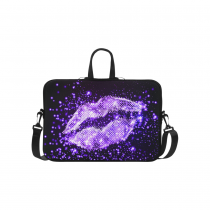 InterestPrint Classic Personalized Bling Glitter Purple Lip Love 15.4  - 15.6  /Macbook Pro 15 Inch Laptop Sleeve Case Bags Skin Cover for Lenovo, GW, Acer, Asus, Dell, Hp, Sony, Toshiba