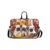 InterestPrint Classic Personalized Cute Pet Pug Puppy Dog Maple Leaves 15.4  - 15.6  /Macbook Pro 15 Inch Laptop Sleeve Case Bags Skin Cover for Lenovo, GW, Acer, Asus, Dell, Hp, Sony, Toshiba