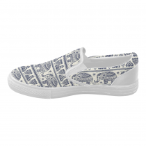 InterestPrint Elephant Aztec Canvas Women's Slip On Shoes Sneaker