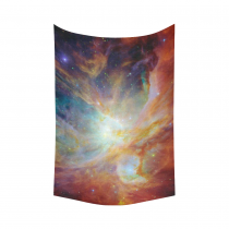 InterestPrint Universe Wall Art Home Decor, Outer Space Nebula Colorful Cotton Linen Tapestry Wall Hanging Art Sets