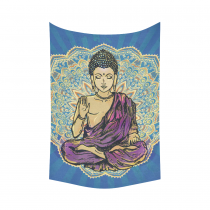InterestPrint Zen Wall Art Home Decor, Buddha Meditation Cotton Linen Tapestry Wall Hanging Art Sets