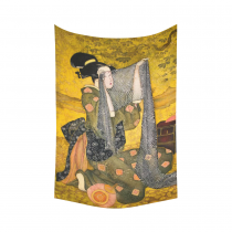 InterestPrint Asian Wall Art Home Decor, Japanese Woman Cotton Linen Tapestry Wall Hanging Art Sets