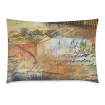 InterestPrint Home Bathroom Decor Collage Art Autumn Pillowcases Decorative Pillow Cover Case Shams Standard Size for Couch Bed-Yellow Golden-20x30 Inch-Polyester Cotton-Vintage Fall Collage Painting