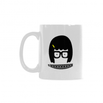 InterestPrint Kitchen & Dining Tina Belcher Ceramic Coffee Mug Cup-White-11 oz-Tina Belcher Funny Uhhhhhhhh Face